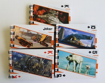 15 Star Wars Notebooks - Star Wars Birthday Party - Star Wars Party Favors - Star Wars Notepads - Star Wars Favors - Recycled Trade Cards