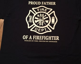 Custom firefighter t shirt