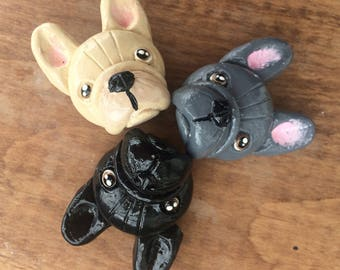 French bulldog magnets, Frenchie magnet set, French bulldog lover magnets, French bulldog decor, frenchie, bulldog gifts