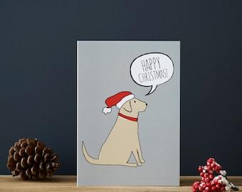 Labrador Christmas card (choice of colour)