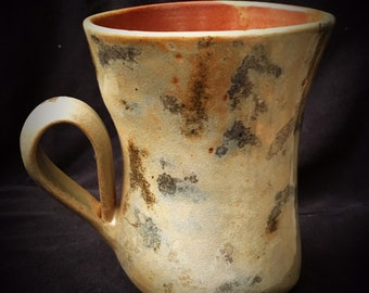 Multiple colored Hand made wheel thrown & altered mug