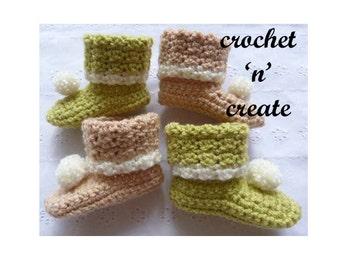 Woodland Newborn Booties Baby Crochet Pattern (DOWNLOAD) CNC05