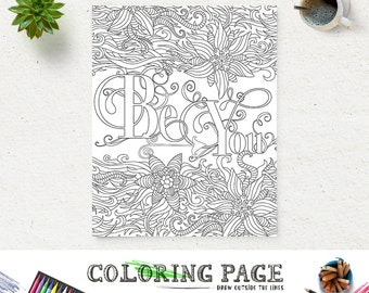 Coloring Page Printable Bible Verse Proverbs 35 Trust in The