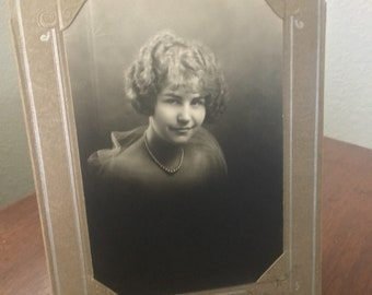 1927 Standing Portrait Photograph Young Girl