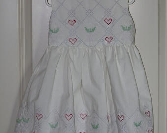 Size 4T Handmade Vintage Sweetheart Dress