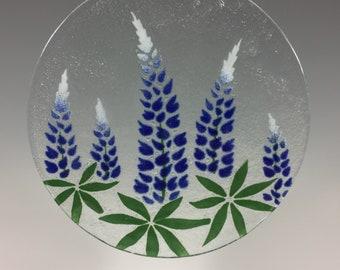 Bluebonnets, Lupine, Texas Bluebonnets, Texas State Flower, Blue Lupine, Large Suncatcher