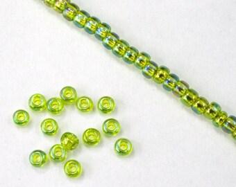 8/0 Transparent Chartreuse AB Seed Bead (20 gram) #JKP001