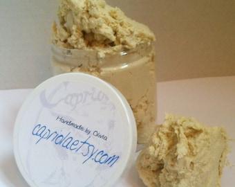 12 oz. whipped CREAM Goat Milk Soap UNSCENTED | Calendula + Honey | Chamomile + Comfrey | SLS-free jumbo jar | creamy foaming gentle soap