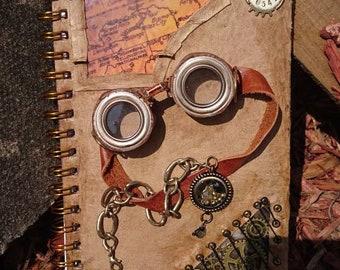 Badlands steampunk A5 lined notebook