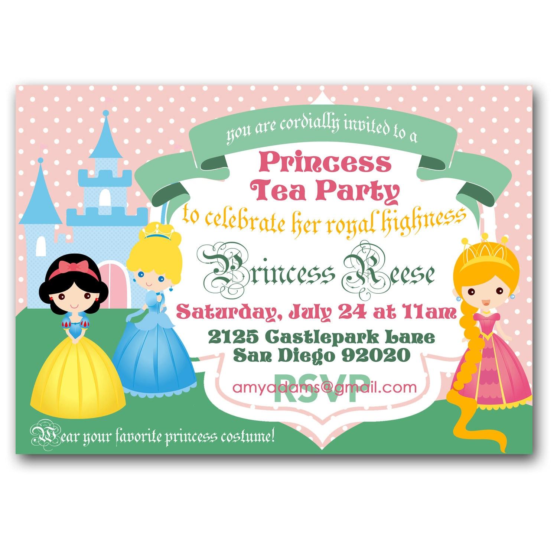disney princess tea party invitations - Jcmanagement.co