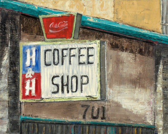H&H Cafe Carwash Fine Art Print