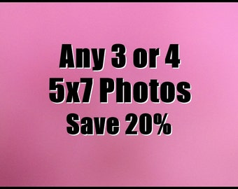 "20% Off, Choose any 3 or 4 - 5x7"" fine art photographs from My images, color photography, nyc photos, industrial chic, playroom prints"