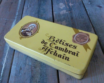 french vintage box of candy nonsense of cambrai 70's
