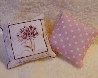 Couple of cushions.miniature,scale 1:12,dollhouses