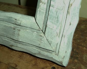 "FRAME White Weathered Picture distressed chic wood glass 8.75"" x 11.125"" vintage A"