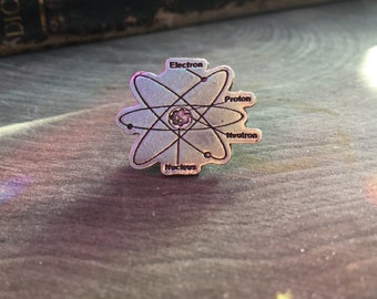 Structure atomique épingle, épingle à cravate, atome, Science, cadeaux pour papa