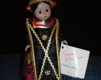 Madame Alexander Doll- Indonesia Doll - 8 inches - collectible doll - Christmas gift  -doll collector gift -Vintage doll -
