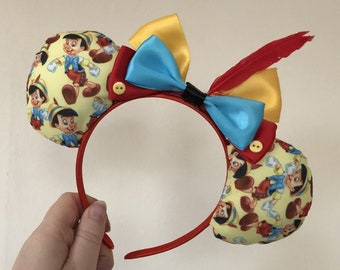 Pinocchio inspired Mickey/Minnie Disney ears