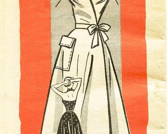 "Sz 12/Bust 30"" - Vintage 1950's Dress Pattern - MARIAN MARTIN - Mail Order Pattern 9078 - Misses' Flared Halter Wrap Dress - SZ 12/Bust 30"""