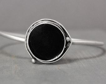 Black Tourmaline Cuff, Black Bracelet, Metaphysical Bracelet, Adjustable Bracelet, Black Tourmaline Jewelry, Grounding Jewelry, Meditation