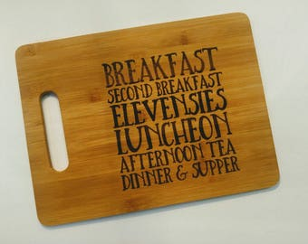 Lord of the Rings Hobbit Meals Bamboo Cutting Board