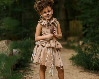 Lion Costume, Wizard of Oz Inspired Costume, Girls Lion Costume, Girls Halloween, Halloween Costume, Pageant Wear, OOC, Oz, Cowardly Lion