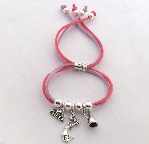 Cheer Charm Bracelets: Cheer Charm Bracelet Cheer Cord Jewelry Cheerleader Charm