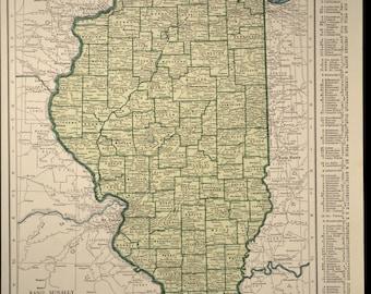 Southern Wisconsin Map Wisconsin Vintage 1930s 1939 Beige