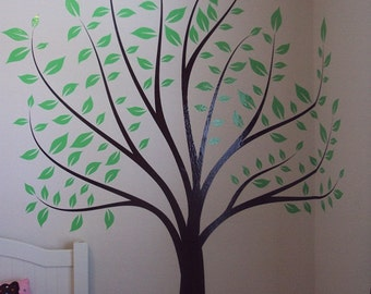 Nursery Tree Large Wall Forest Kids Decal Branches and Leaves 1135 (9 feet tall)