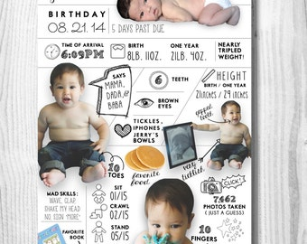 Baby's First Year Infographic Digital Poster
