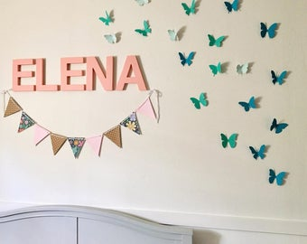 Attractive Butterfly Wall Clings   Nursery Wall Decor   Butterfly Wall Decor    Colorful Butterfly Clings