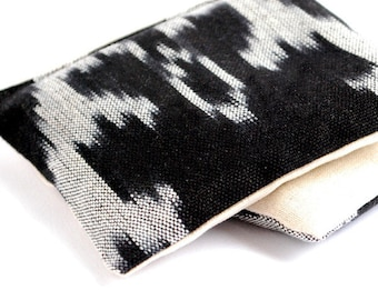 Organic Lavender Sachets Black and White Ikat Cotton & Linen Organic Lavender Set of 2 Natural Home Mother's Day Gift
