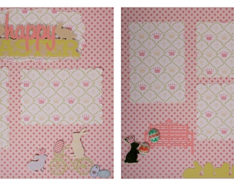 Pre-made Scrapbook Pages: Happy Easter #7