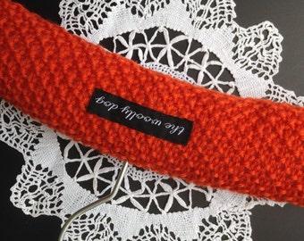 Baby Shower Gift, Baby Hangers, Children's Hanger, Padded Hangers, Photo Prop, UK Seller, Orange, Pure Wool,