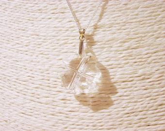 Necklace: Swarovski Crystal and Silver 925 pendant - Swarovski 6764 Clover
