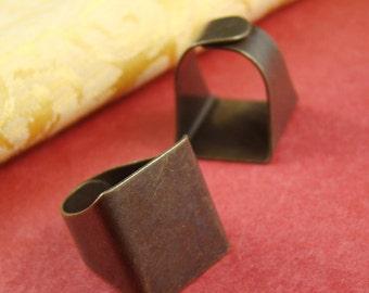 10pcs 19mm Antique Unique Adjustable Ring Blanks RI027