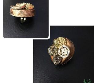 Wooden statement ring