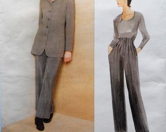 Vogue 1674.  VTG Anne Klein pants suit pattern.  Anne Klein 1995 jacket and pants pattern.  Anne Klein couture suit pattern.  Size 6-10.