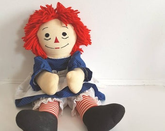 Vintage Large Raggedy Anne Doll