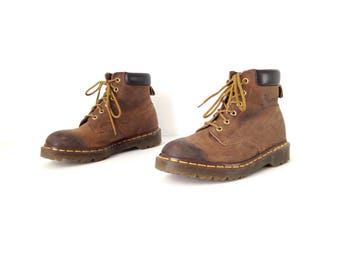 women's size 8 DOC MARTENS brown 90s GRUNGE nirvana combat style rugged boots