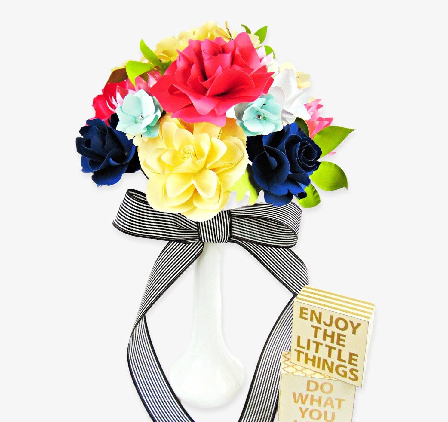 Paper wedding bouquet diy paper flower templates rose paper zoom mightylinksfo