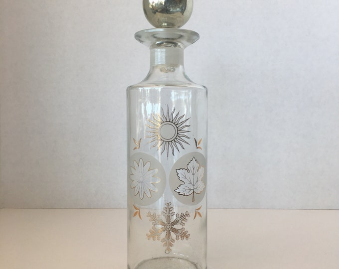 Vintage Four Seasons Glass Decanter