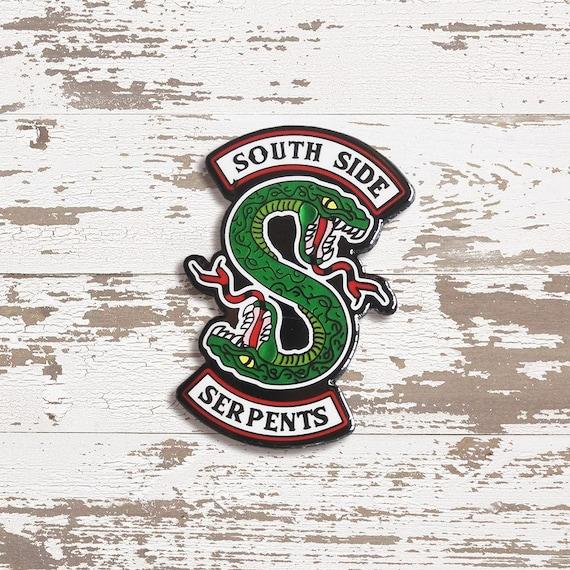 Riverdale Wallpaper Serpents: South Side Serpents Enamel Pin Riverdale Badge