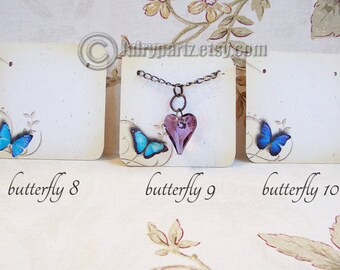 24•BUTTERFLY MIX•Necklace Cards•Jewelry cards•Earring Cards•Jewelry Display•Earring Holder•Necklace Holder•2x2 or 3x3