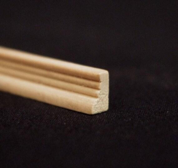 Leiste , Holz natur unbehandelt,  für das Puppenhaus, für den Modellbau, für den Krippenbau # 23549