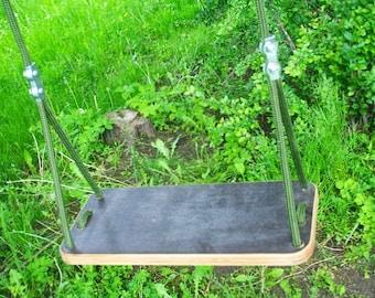 Wood swing , swing for siblings both kids and adults, baum shaukel, adjustable length ropes, tree swing, rope swing, oscilacion