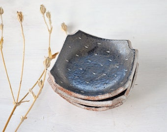 Square Dish - Ceramic Plate - Small Plate - Pottery Plate