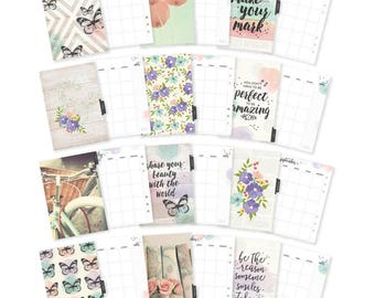 Carpe Diem Bliss Double-Sided A5 Planner Inserts Monthly, Undated Butterfly Insert (7968)