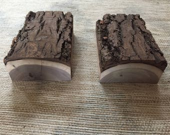 2 Black Walnut Live Edge Rough Cuts ( Raw not treated)