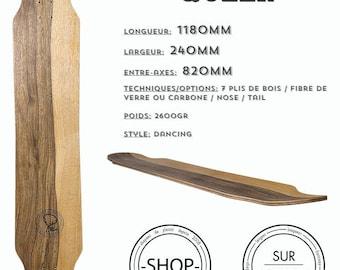 Queen longboard Longboard skateboard handcrafted